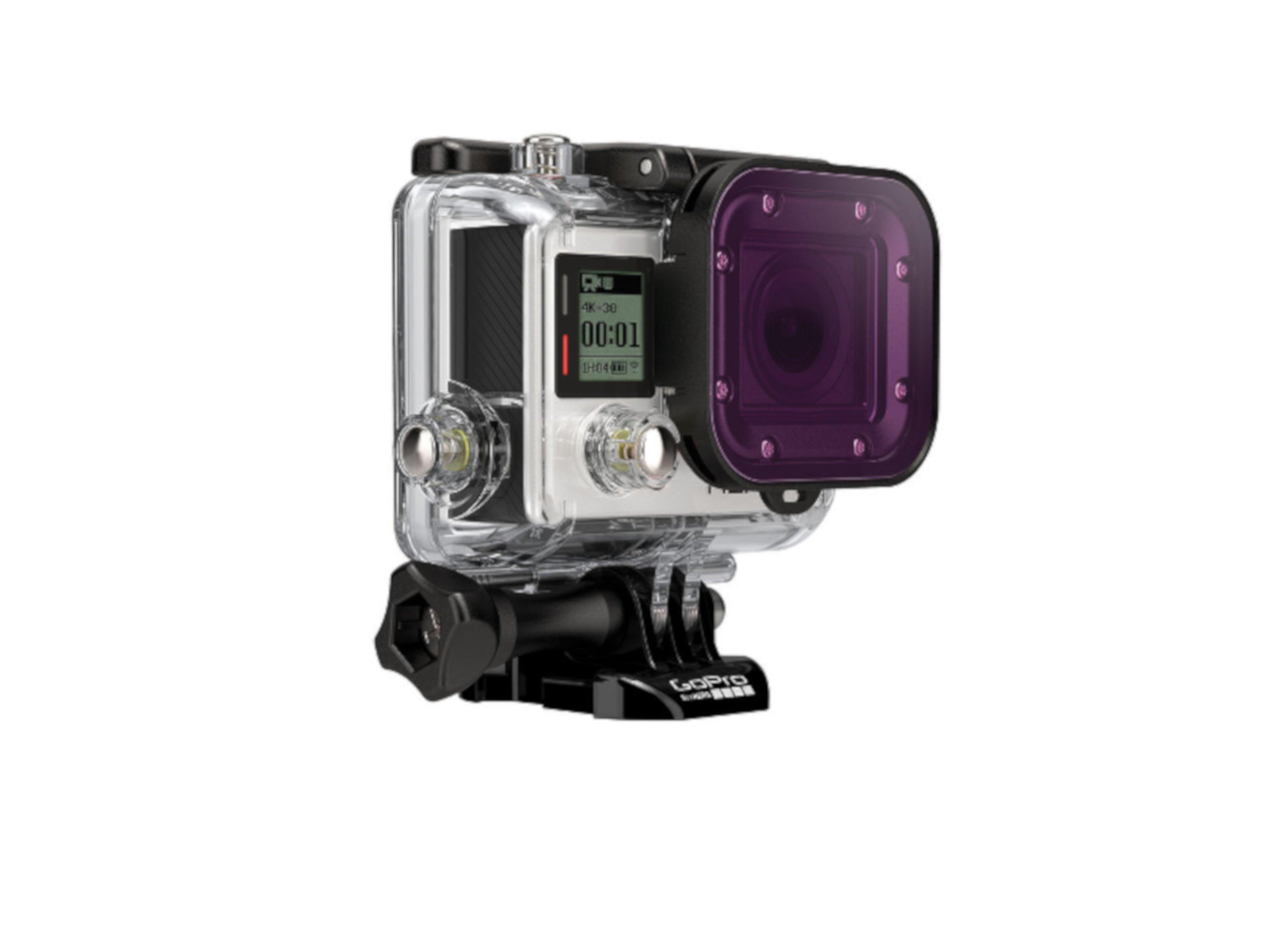 GoPro - Magenta Filter Dive Housing Front Right 02